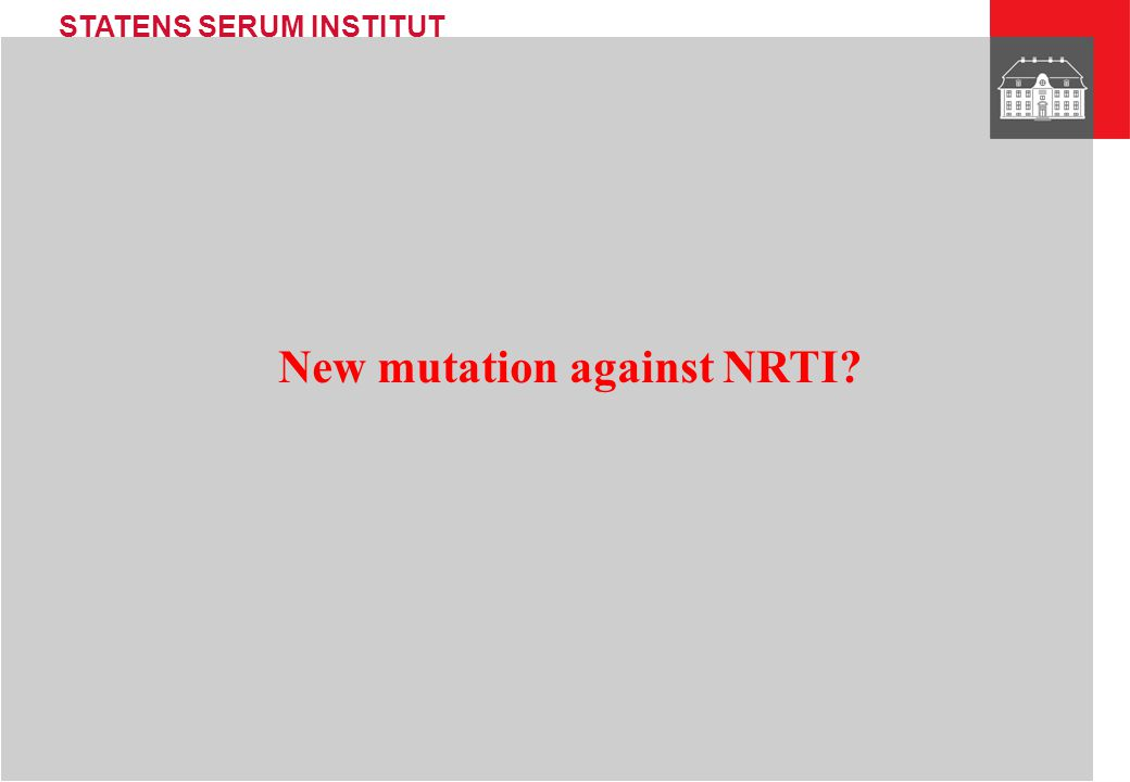 New mutation against NRTI