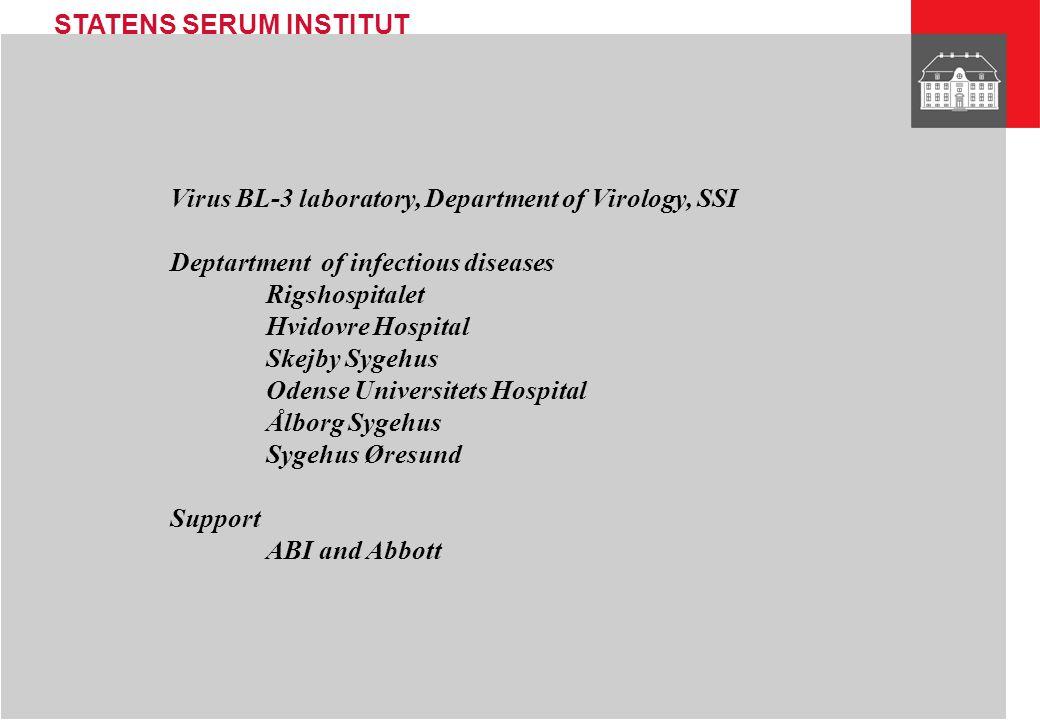 Virus BL-3 laboratory, Department of Virology, SSI