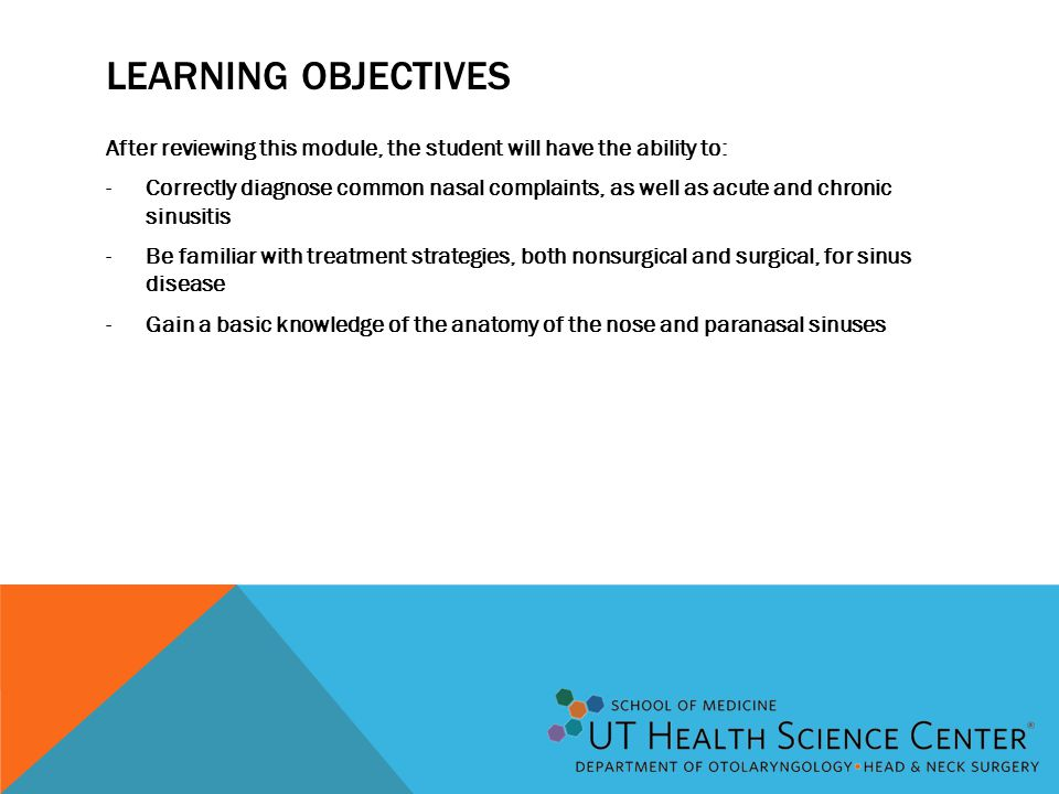 Learning Objectives After reviewing this module, the student will have the ability to: