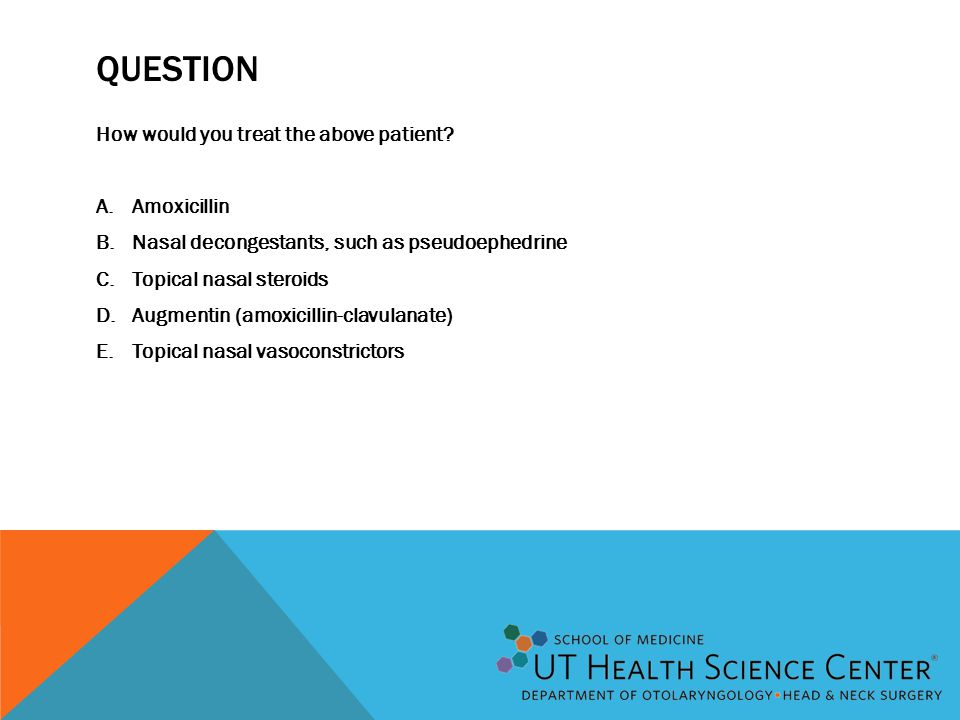 Question How would you treat the above patient Amoxicillin