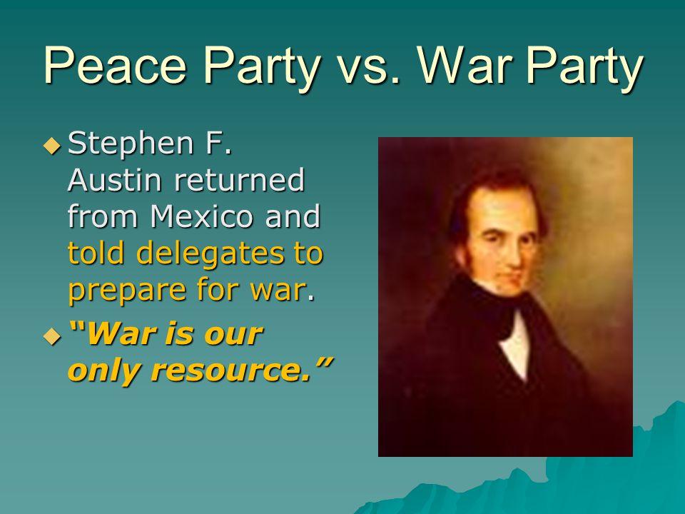 Peace Party vs. War Party