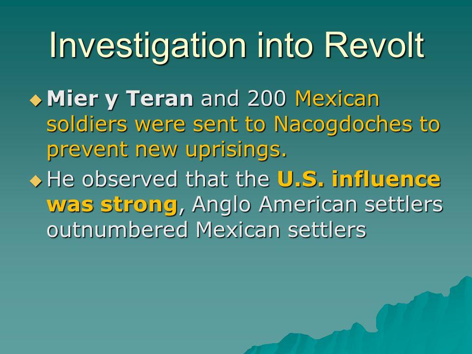 Investigation into Revolt