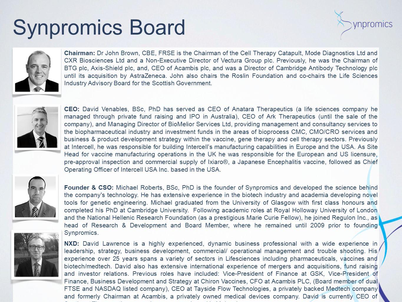 Synpromics Board