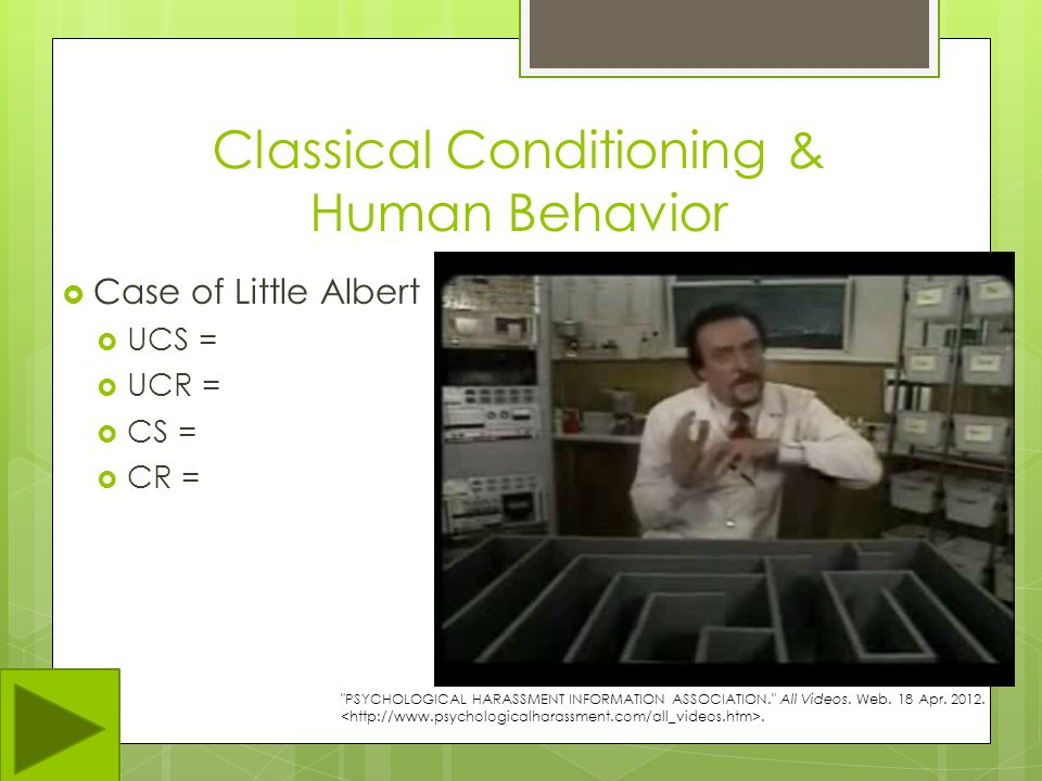 Classical Conditioning & Human Behavior