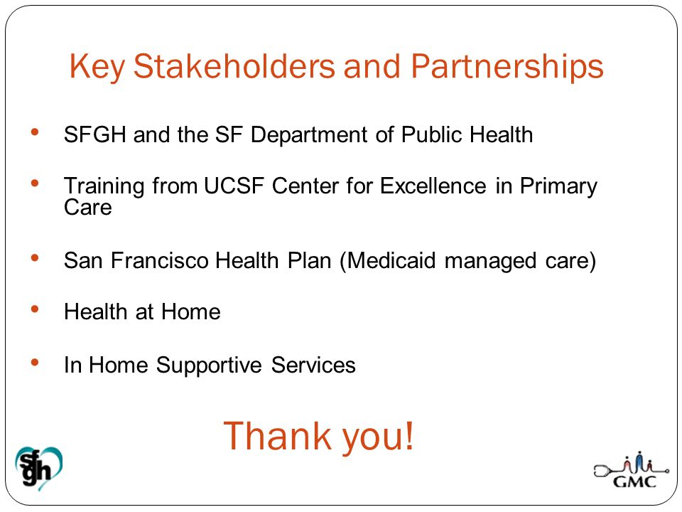 Key Stakeholders and Partnerships