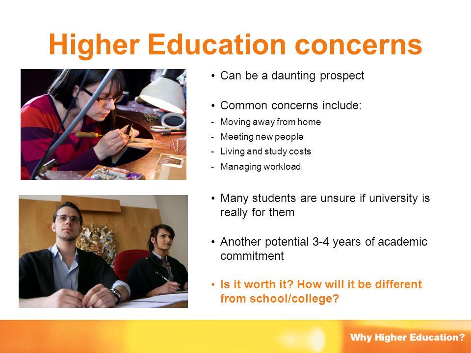 Higher Education concerns