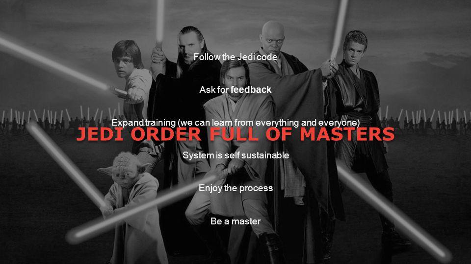 JEDI ORDER FULL OF MASTERS