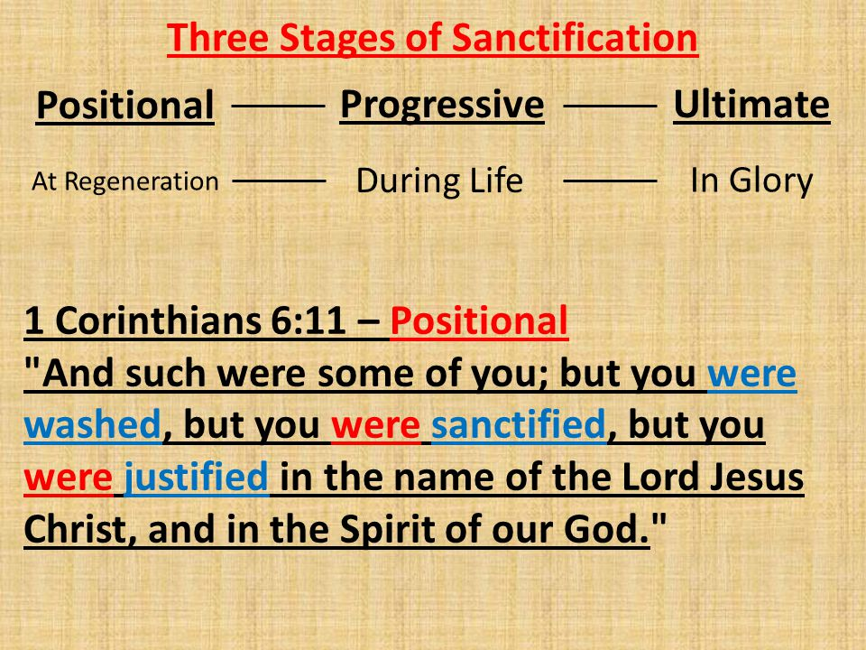 Three Stages of Sanctification