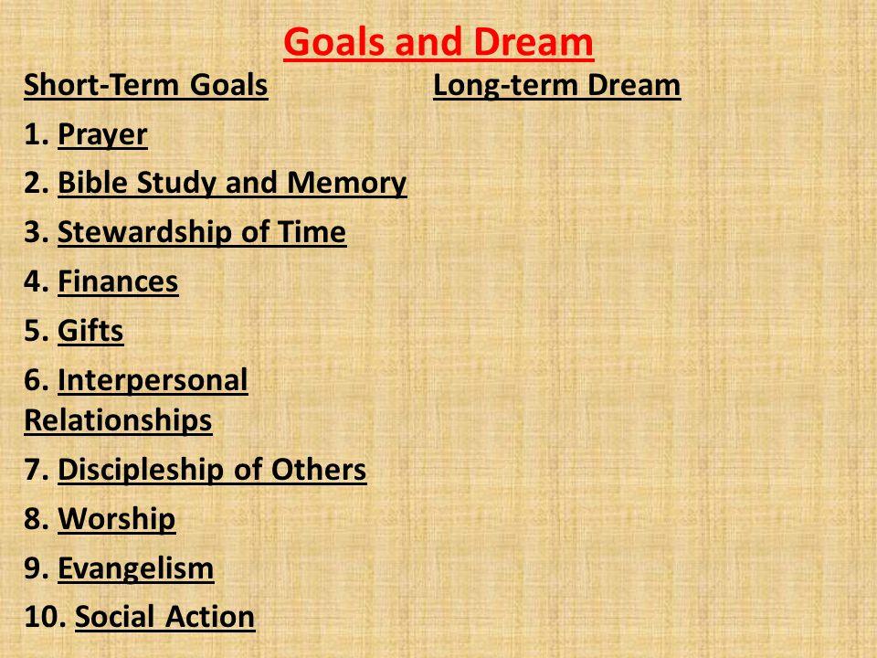 Goals and Dream