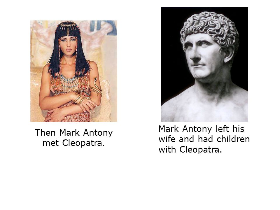when did cleopatra meet mark antony