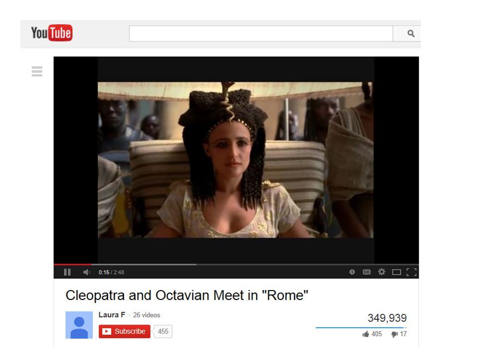 Octavian came to meet her.