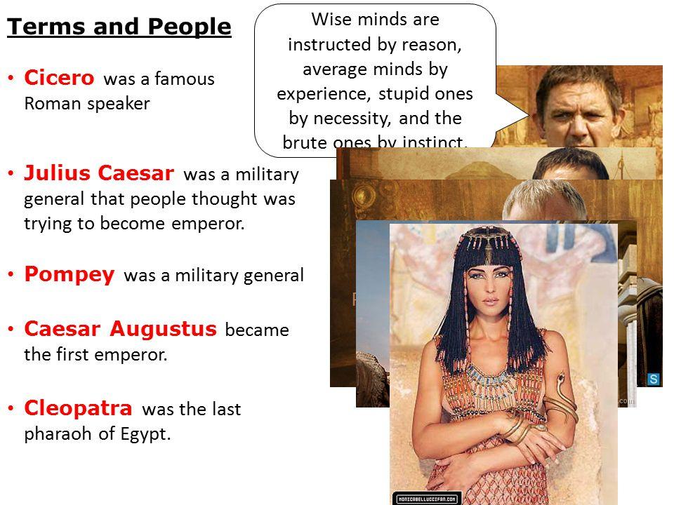 Cicero was a famous Roman speaker