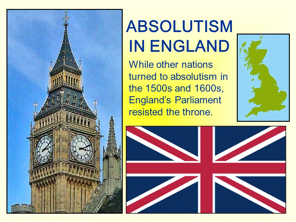 ABSOLUTISM IN ENGLAND.