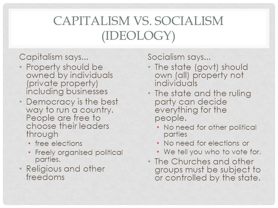 Capitalism vs. Socialism (ideology)