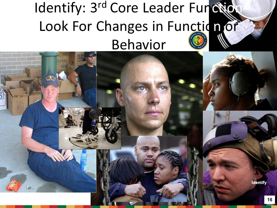 Identify: 3rd Core Leader Function Look For Changes in Function or Behavior