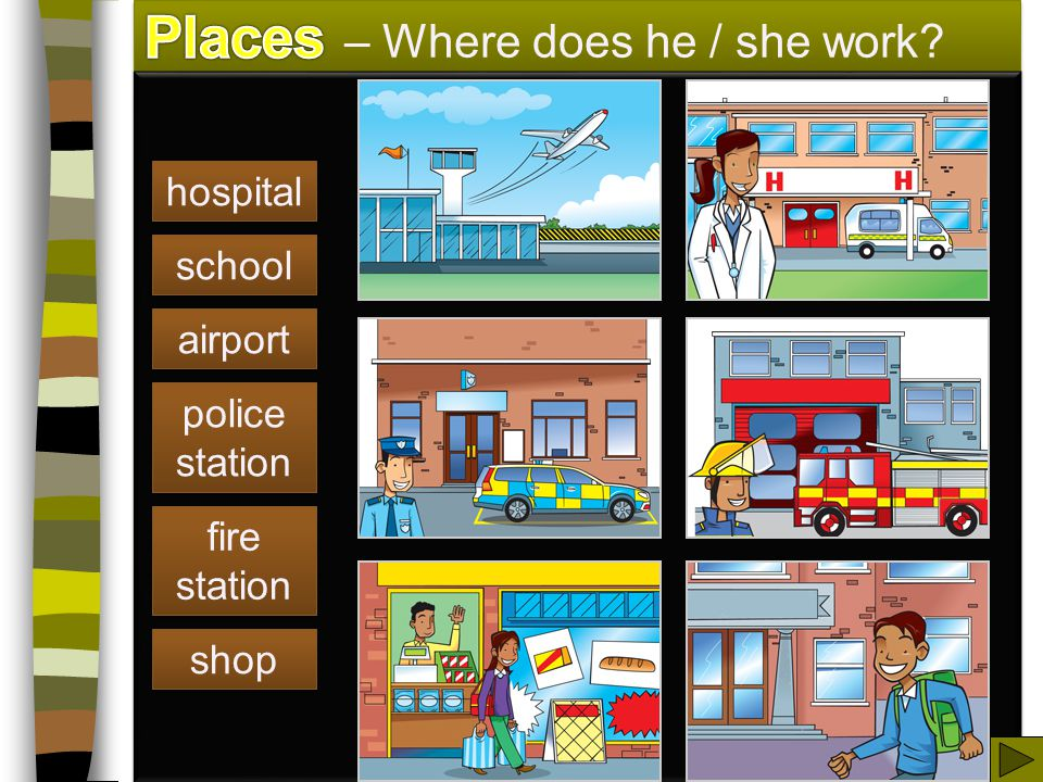 Places – Where does he / she work