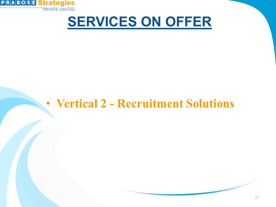 Vertical 2 - Recruitment Solutions