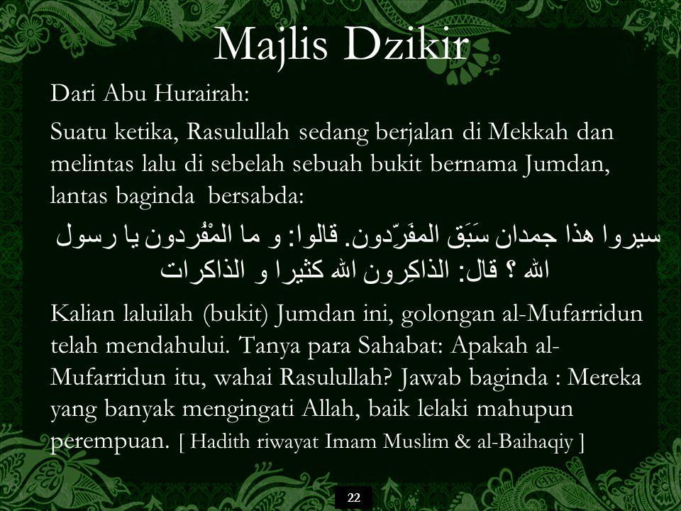 Majlis Dzikir Dari Abu Hurairah:
