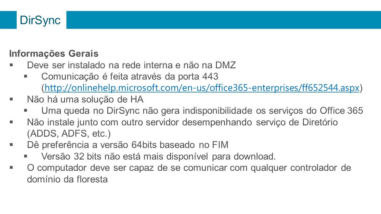 DirSync Informações Gerais