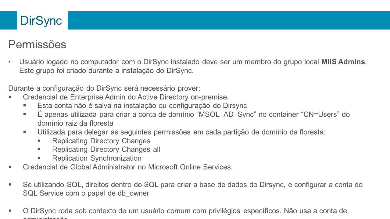 DirSync Permissões.