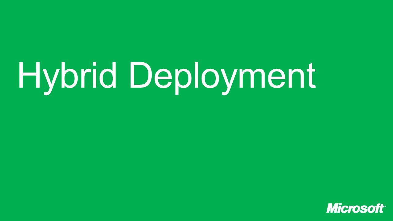 Hybrid Deployment