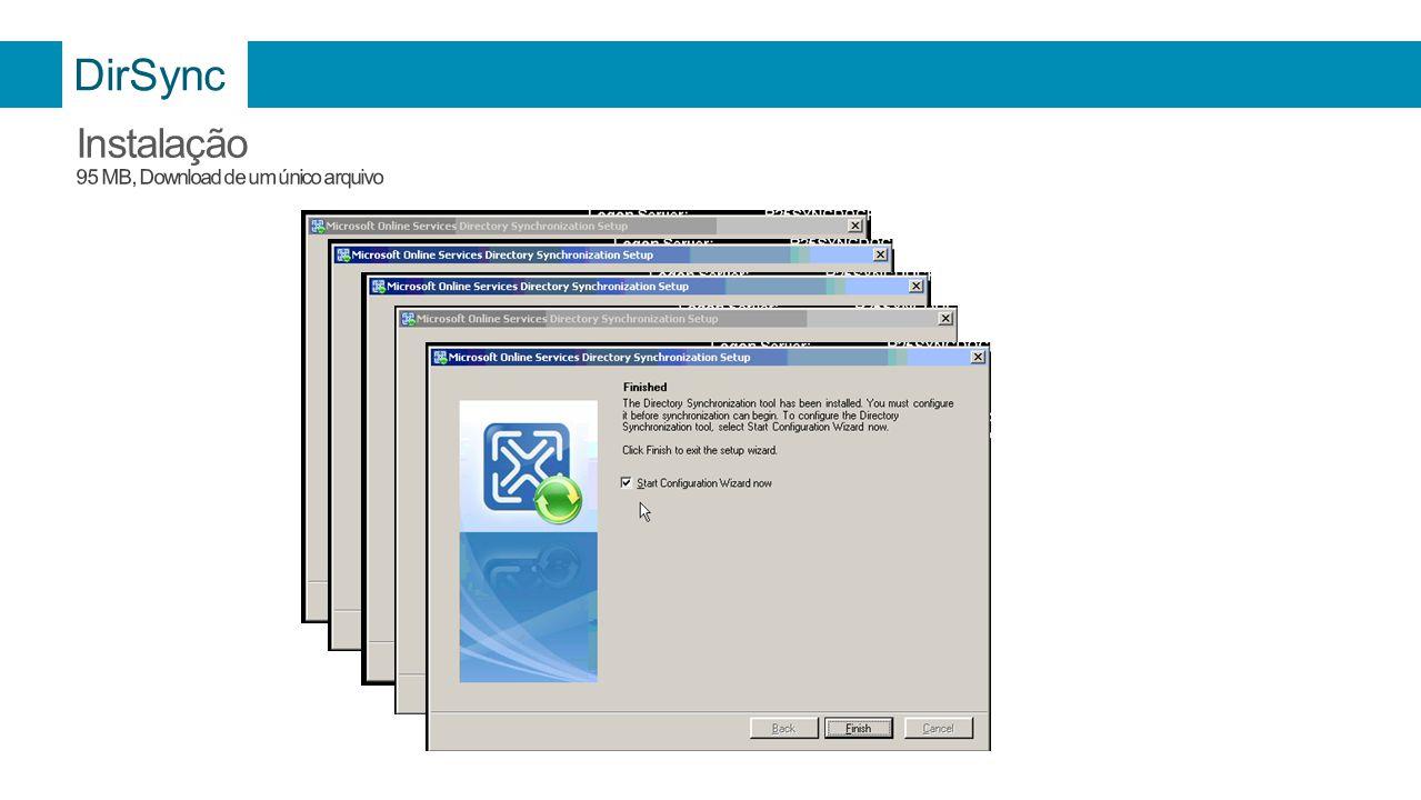 DirSync Instalação 95 MB, Download de um único arquivo