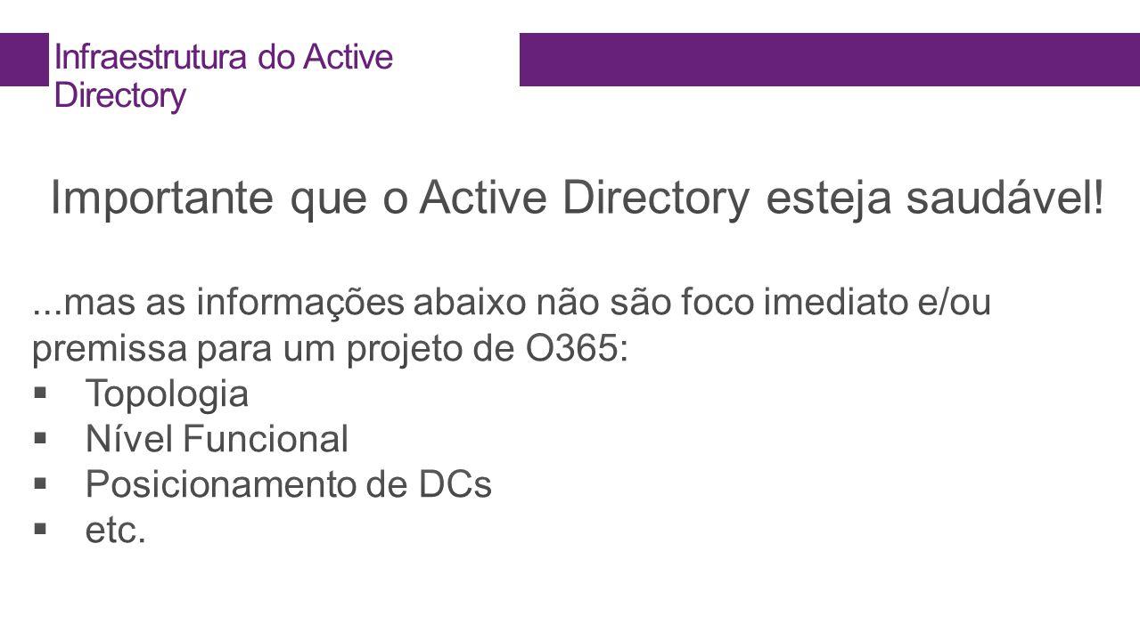 Infraestrutura do Active Directory