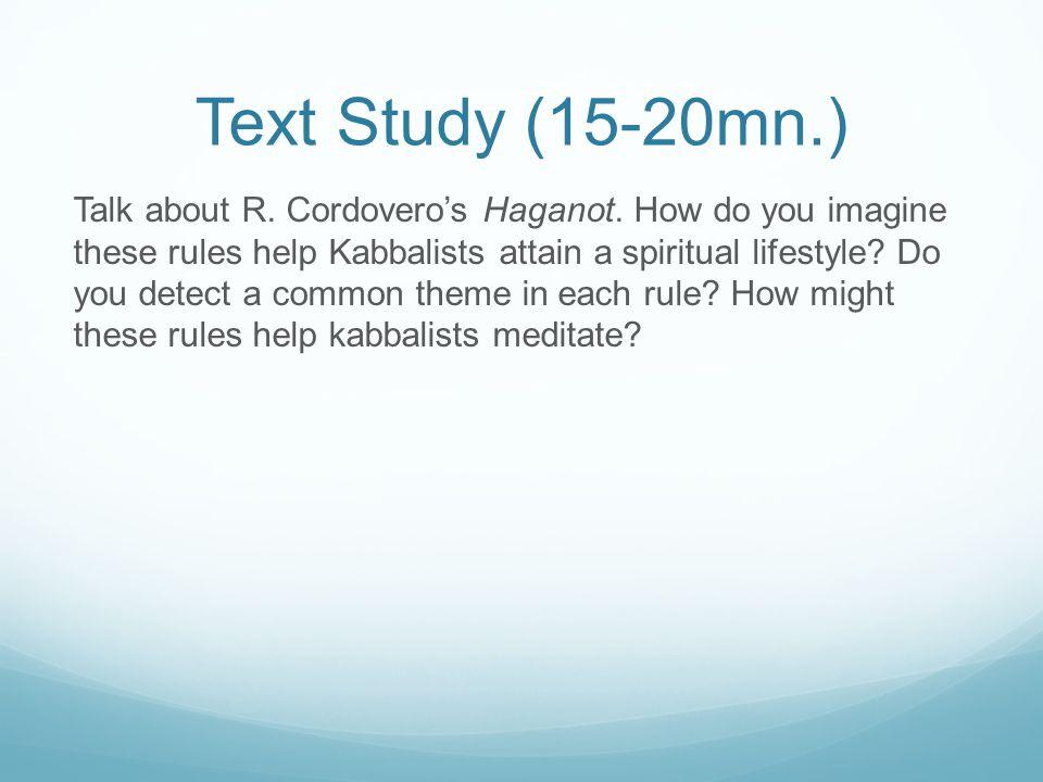 Text Study (15-20mn.)