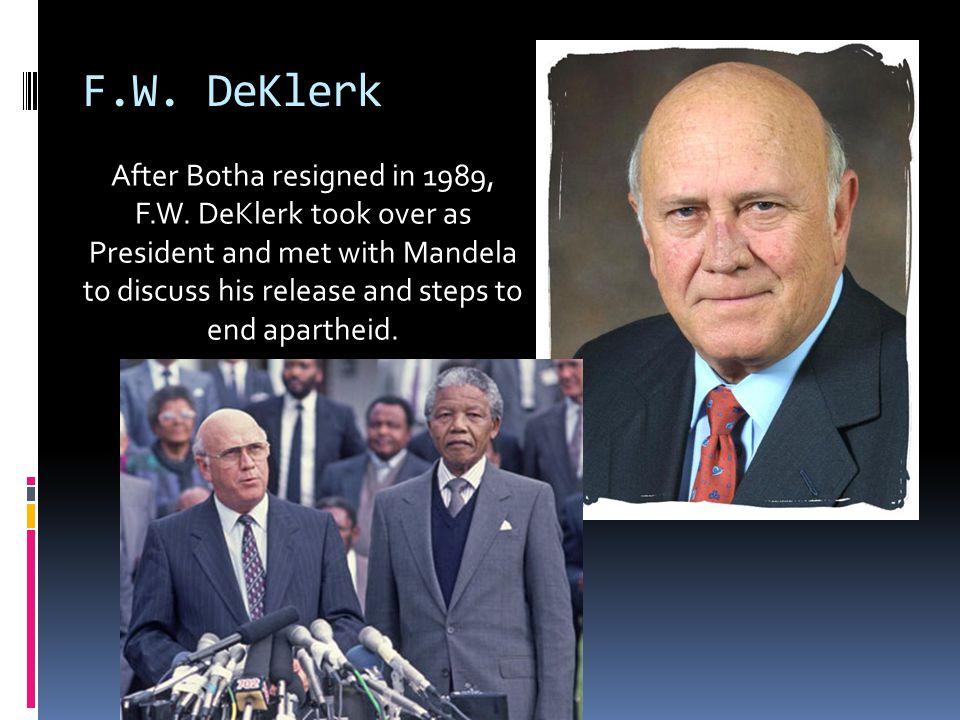 F.W. DeKlerk