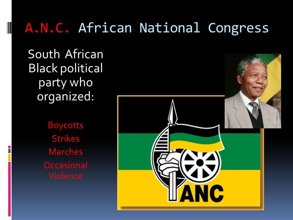 A.N.C. African National Congress