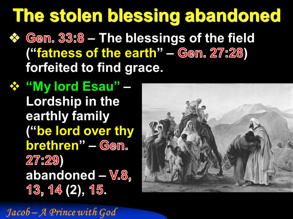 The stolen blessing abandoned