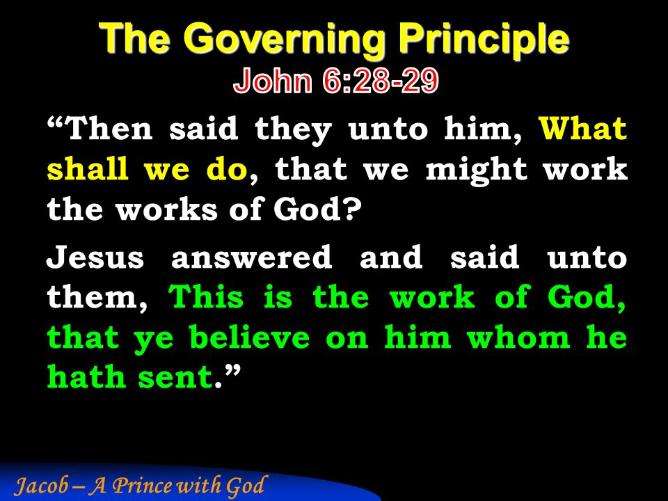 The Governing Principle