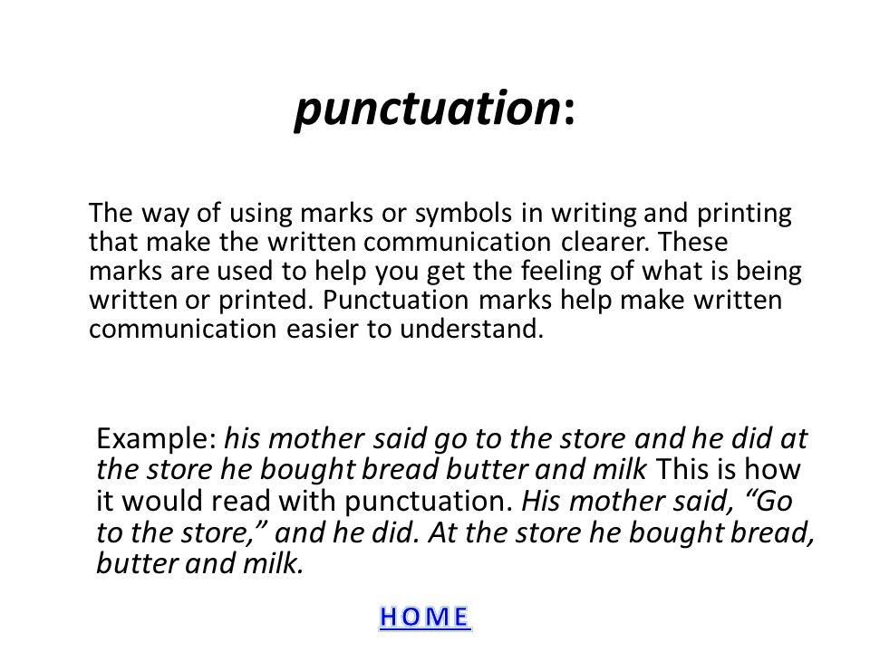 punctuation: