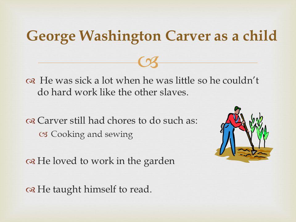 George Washington Carver as a child