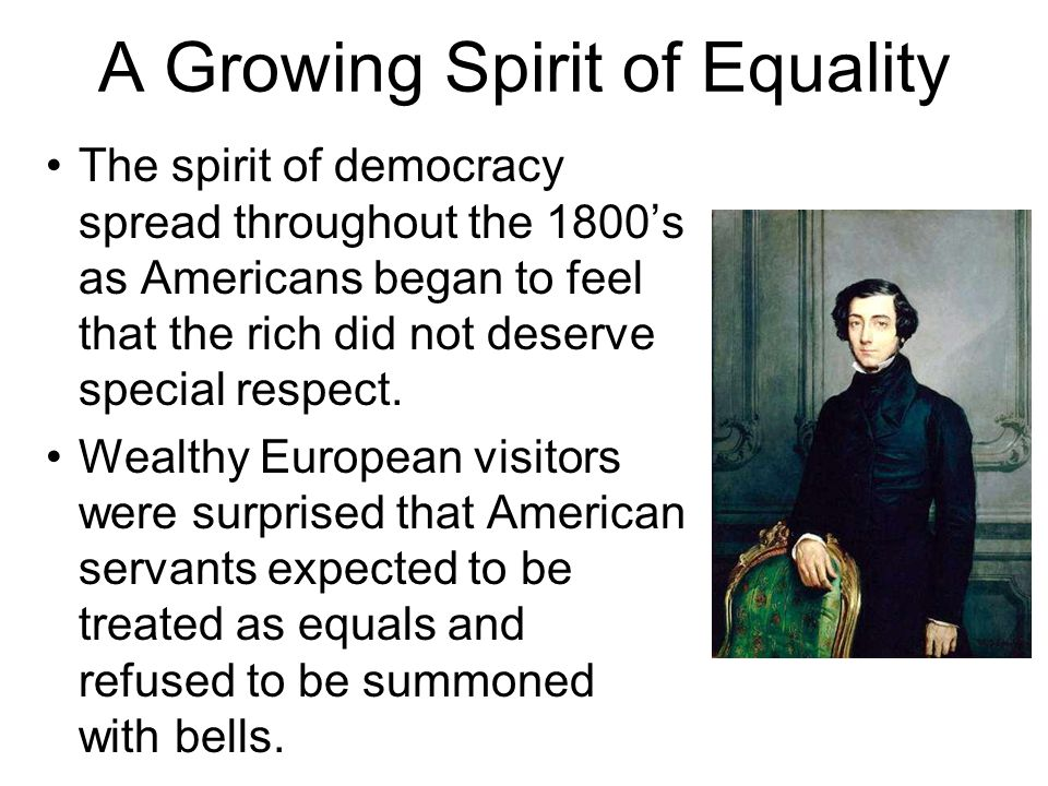 A Growing Spirit of Equality