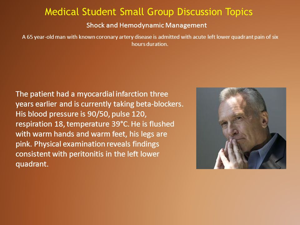 Medical Student Small Group Discussion Topics