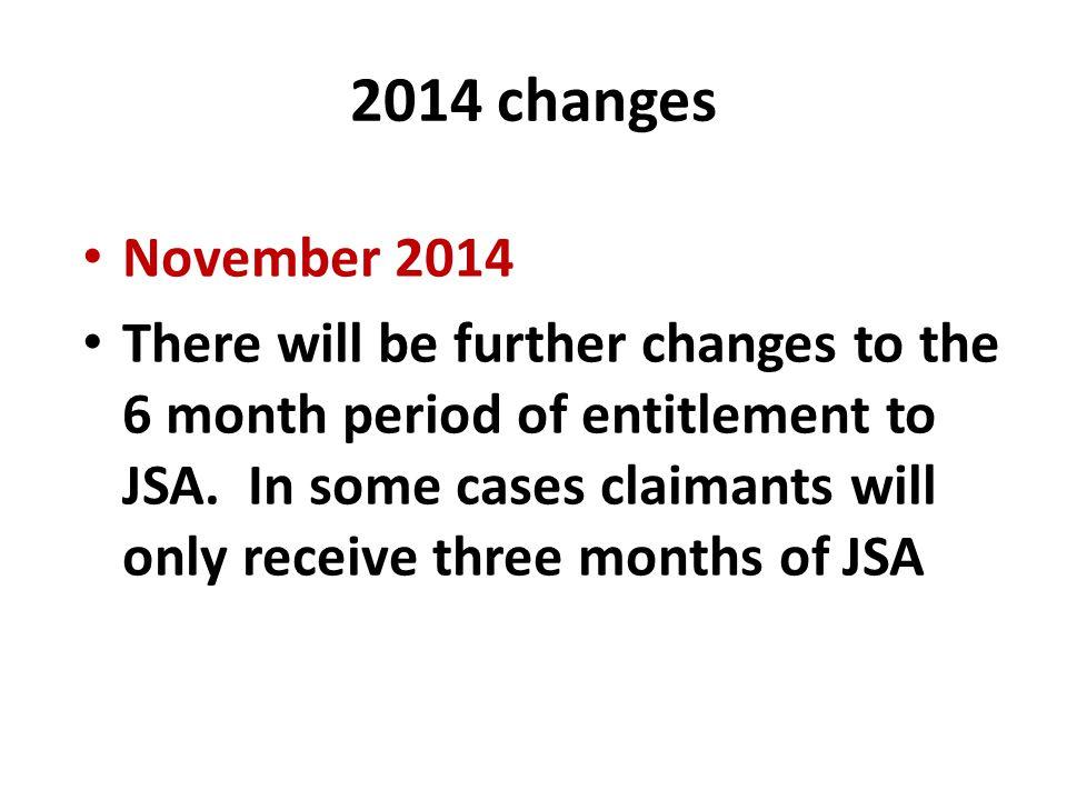 2014 changes November 2014.
