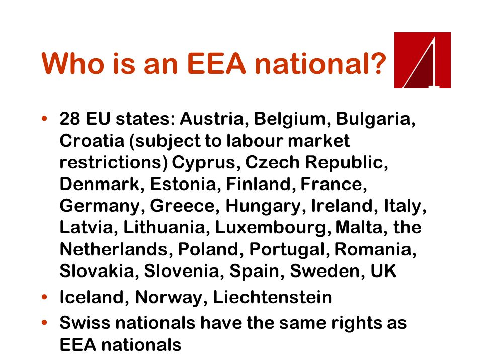 Who is an EEA national