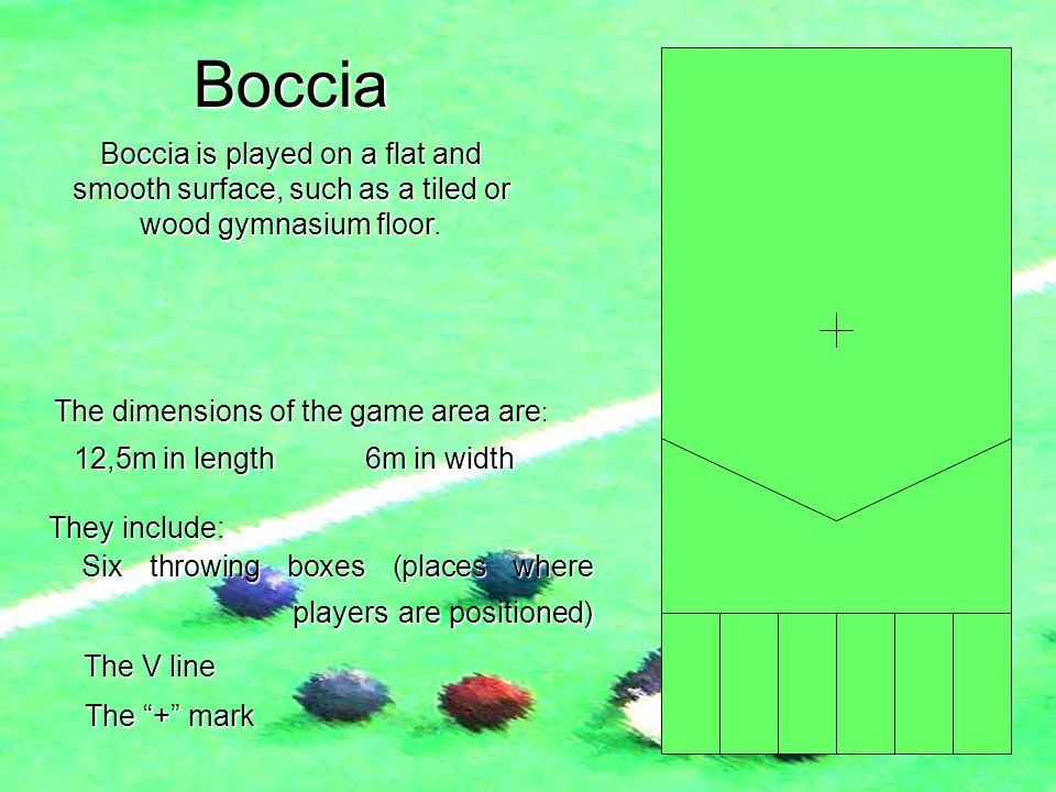 The dimensions of the game area are: