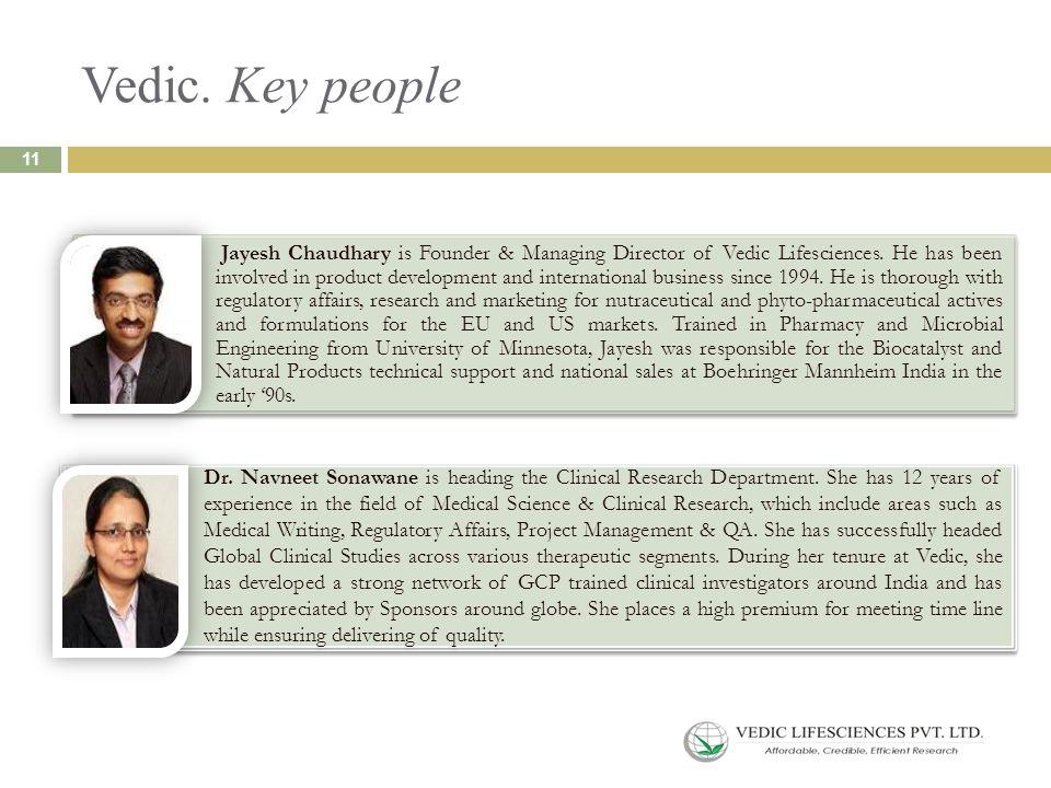 Vedic. Key people