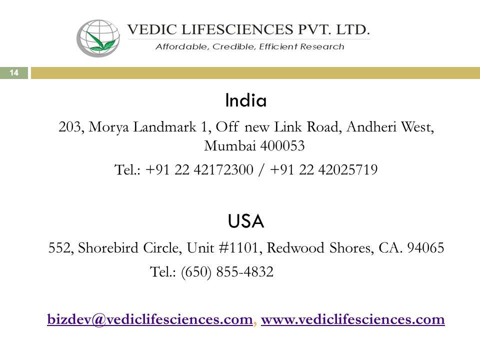 bizdev@vediclifesciences.com, www.vediclifesciences.com