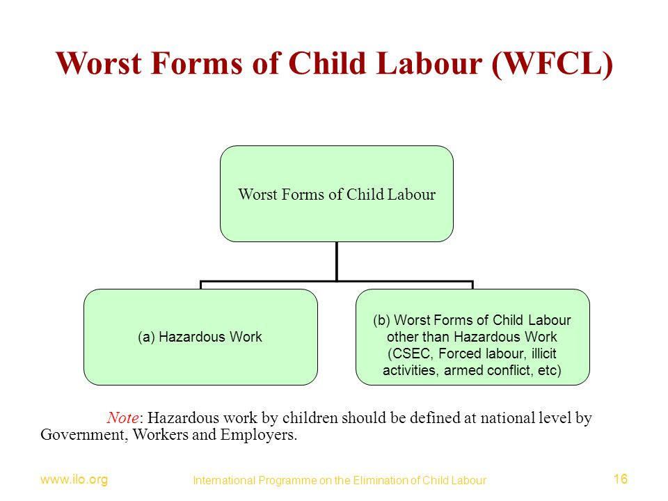 Worst Forms of Child Labour (WFCL)