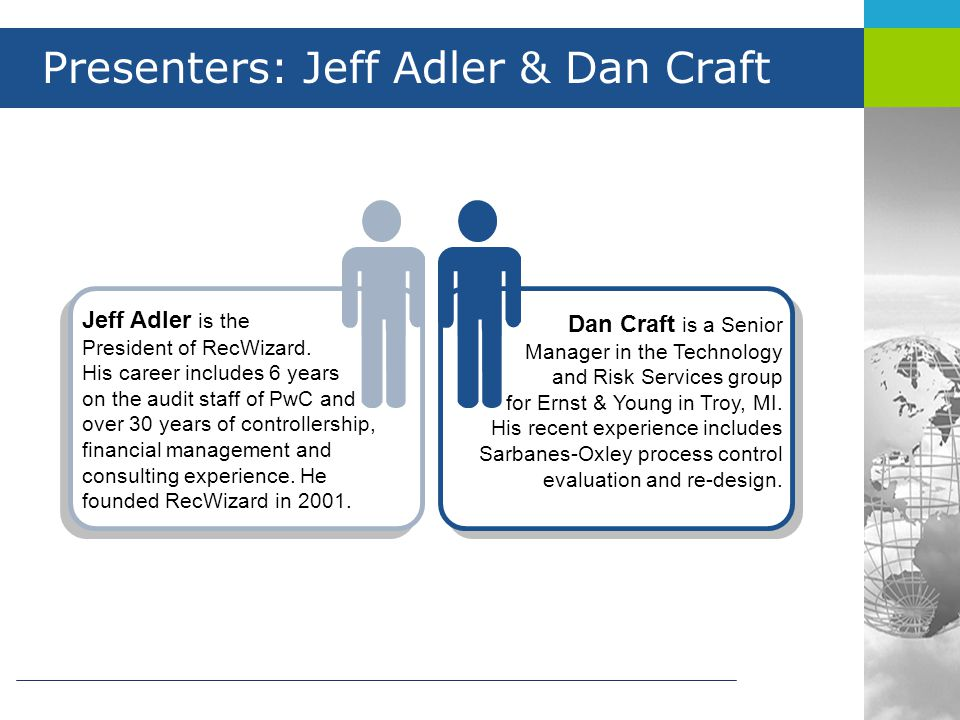 Presenters: Jeff Adler & Dan Craft