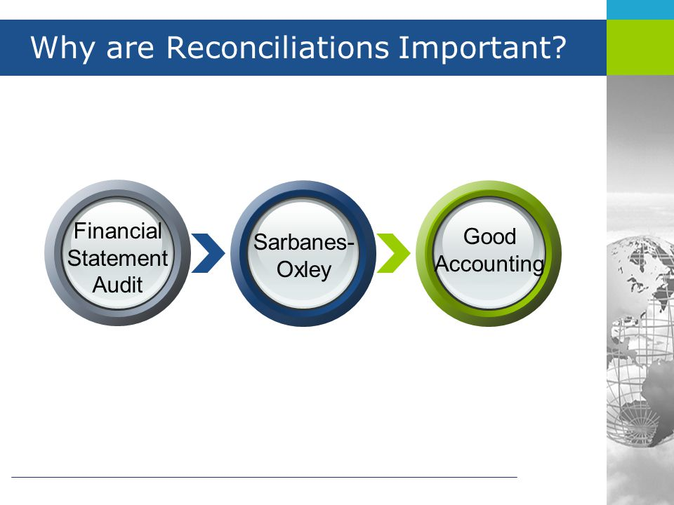 Why are Reconciliations Important