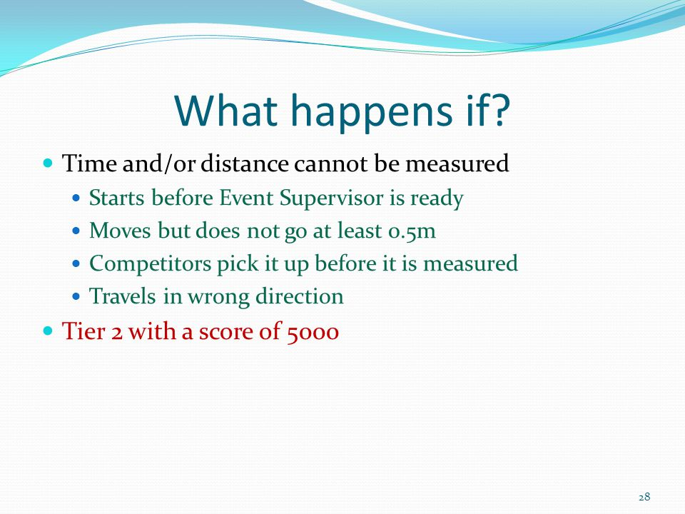 What happens if Time and/or distance cannot be measured