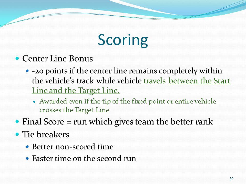 Scoring Center Line Bonus