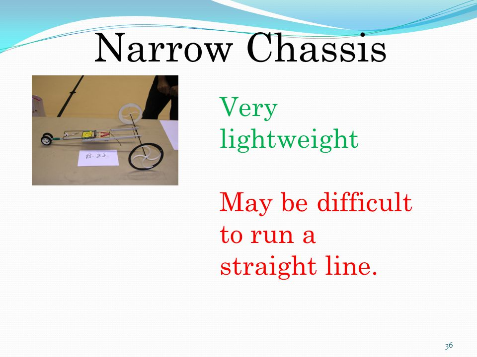 Narrow Chassis Very lightweight