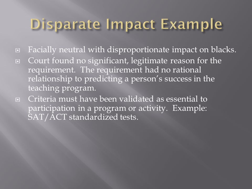 Disparate Impact Example