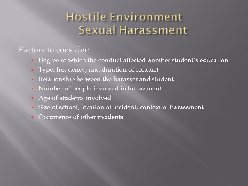 Hostile Environment Sexual Harassment