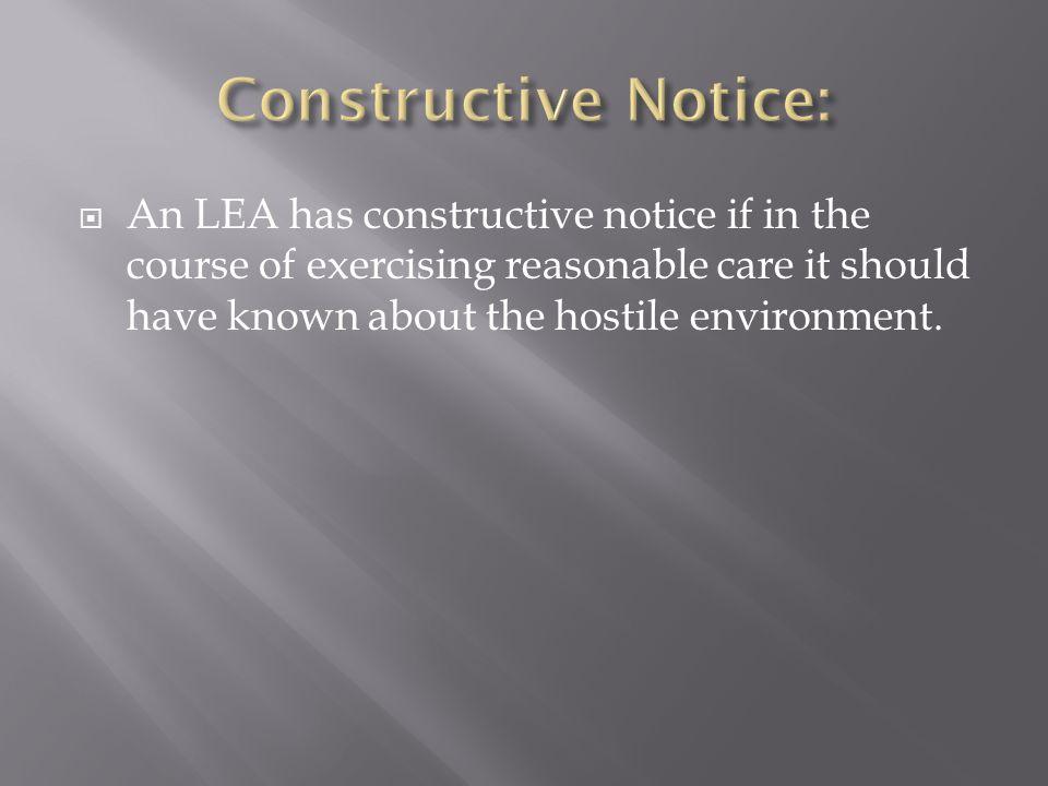 Constructive Notice:
